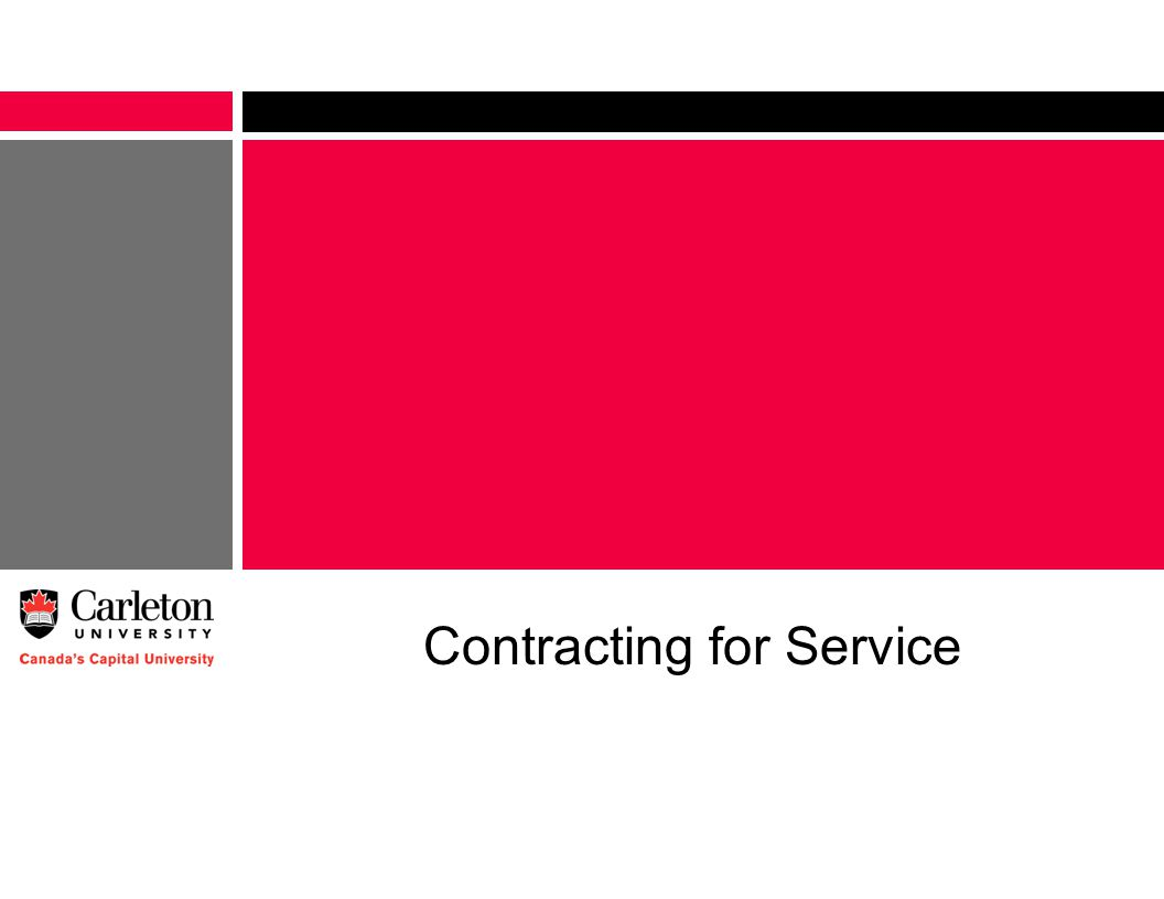 Contracting for Service