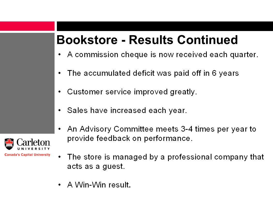 Bookstore - Results Continued