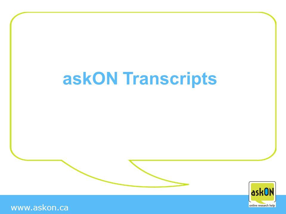 www.askon.ca askON Transcripts