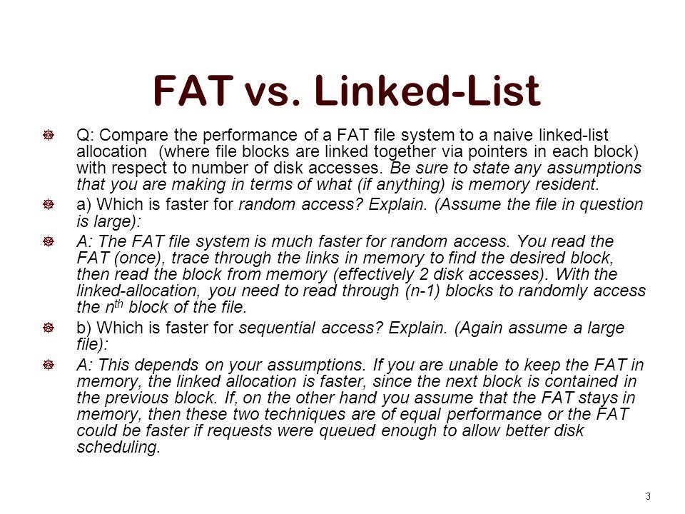 FAT vs.