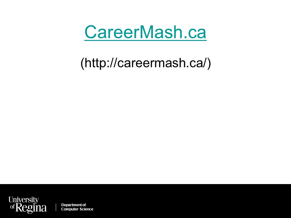 Department of Computer Science CareerMash.ca (http://careermash.ca/)