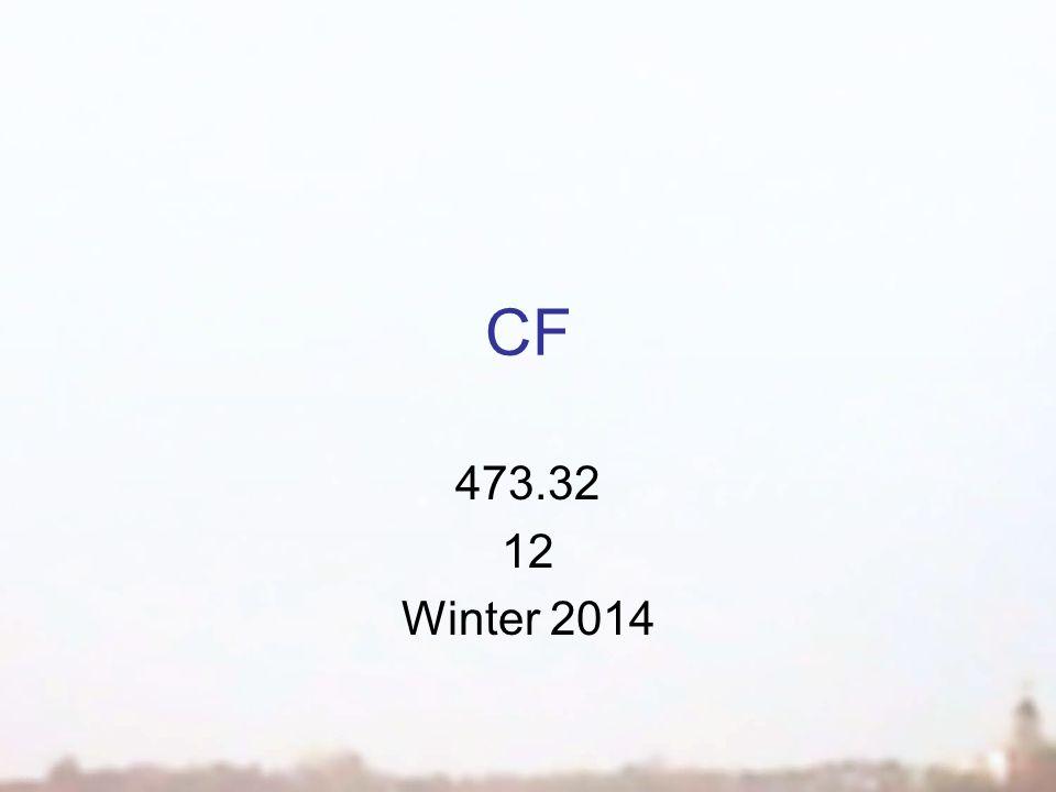 CF 473.32 12 Winter 2014