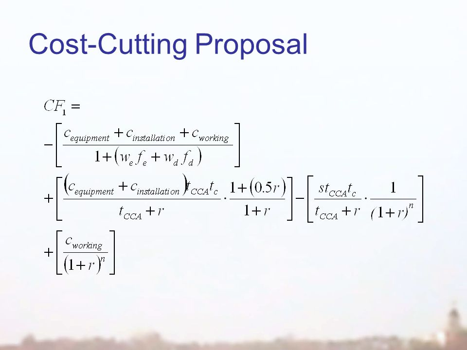 Cost-Cutting Proposal