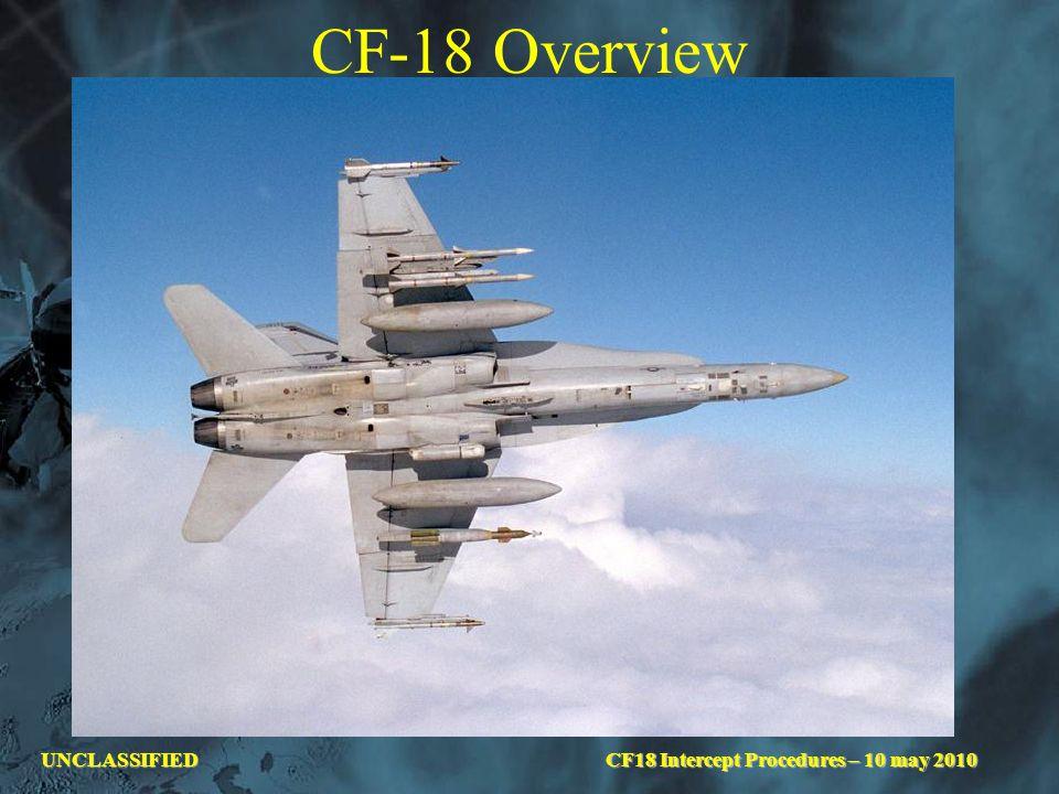 UNCLASSIFIED CF-18 Overview CF18 Intercept Procedures – 10 may 2010