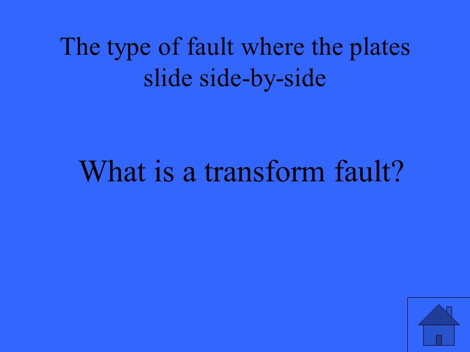 What is a transform fault