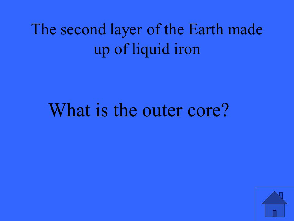 What is the outer core