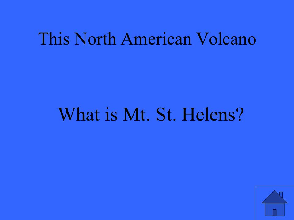What is Mt. St. Helens
