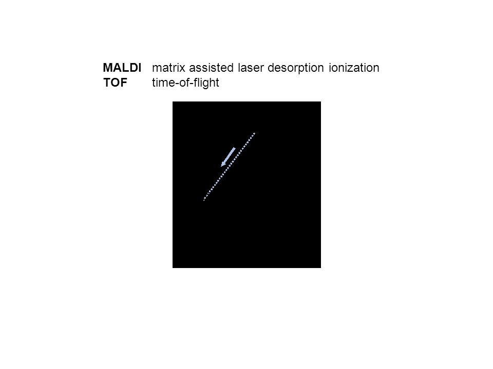MALDImatrix assisted laser desorption ionization TOFtime-of-flight