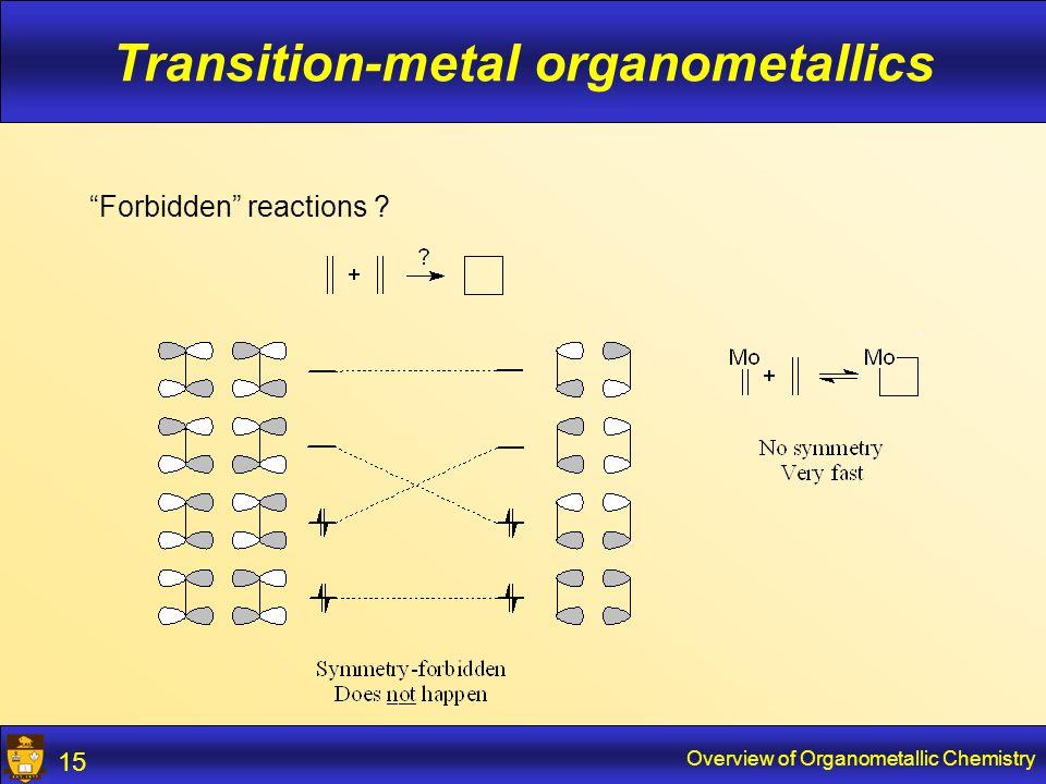 Overview of Organometallic Chemistry 16 Reactivity of the M-C bond Polar  reactive towards e.g.