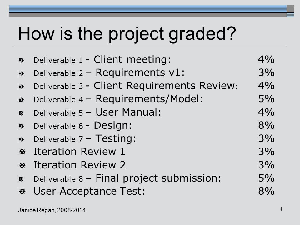 Groups  Your term project will be completed in groups of 7 students  You may choose your own groups.