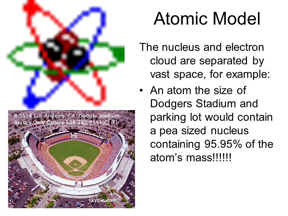 The electron cloud model: - the most accepted model today Almost the same as the Bohr model.