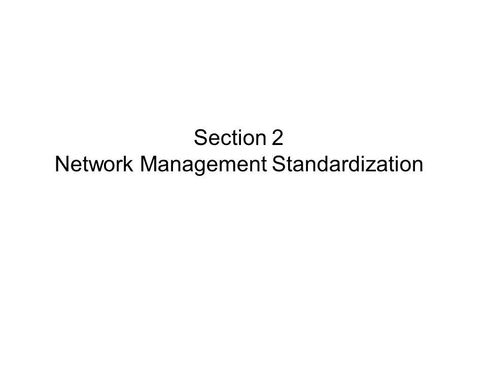 Section 2 Network Management Standardization