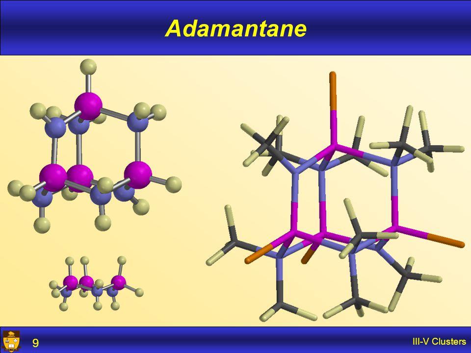 III-V Clusters 9 Adamantane