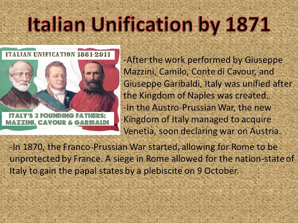From 1870-1880, Italy had been suffering through an economic crisis.