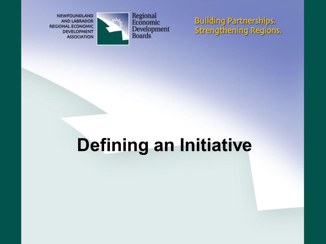 Defining an Initiative