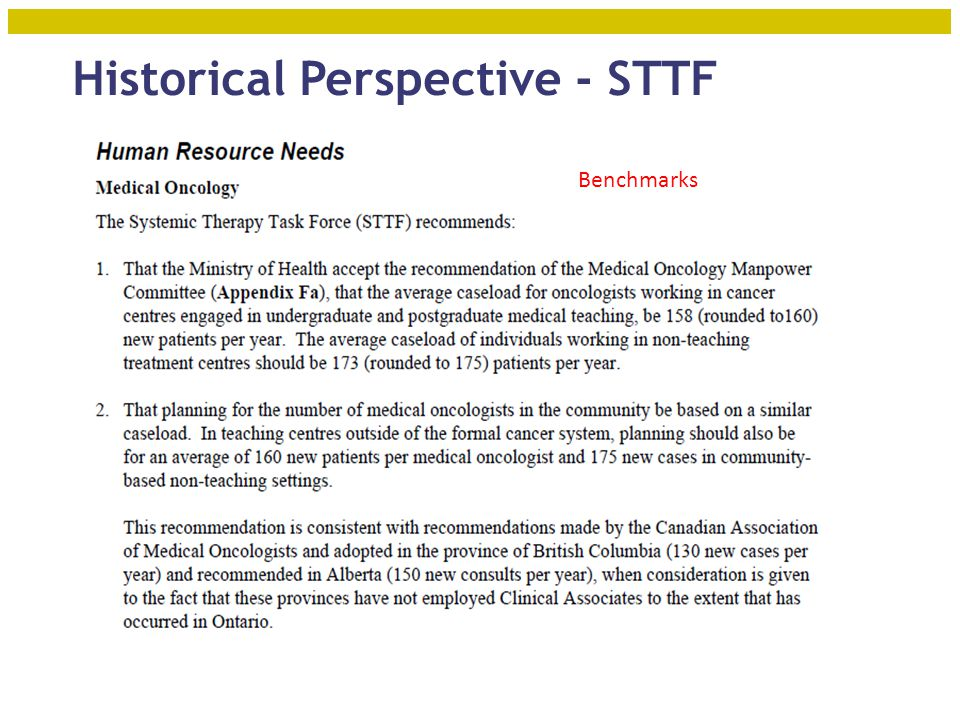 Historical Perspective - STTF 6 Benchmarks