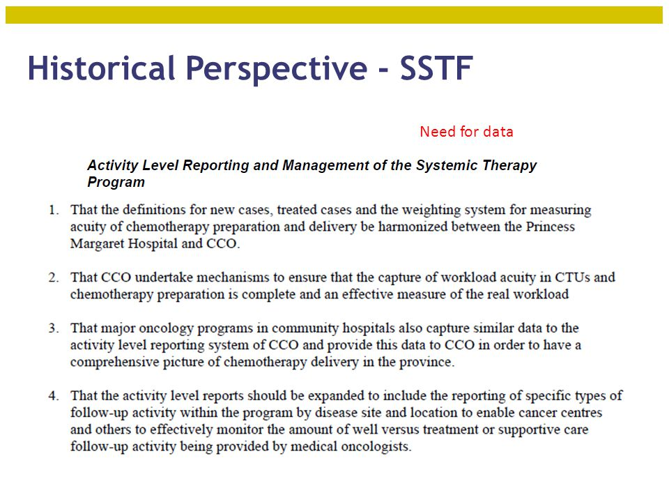 Objectives – to Review: History of manpower planning for medical oncology in Ontario Current model for service delivery and HHR planning for systemic treatment – RSTP Provincial Plan HHR forecasting and allocation 2010 + Future state – What will the system you work in be like.
