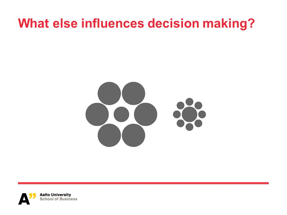 What else influences decision making?