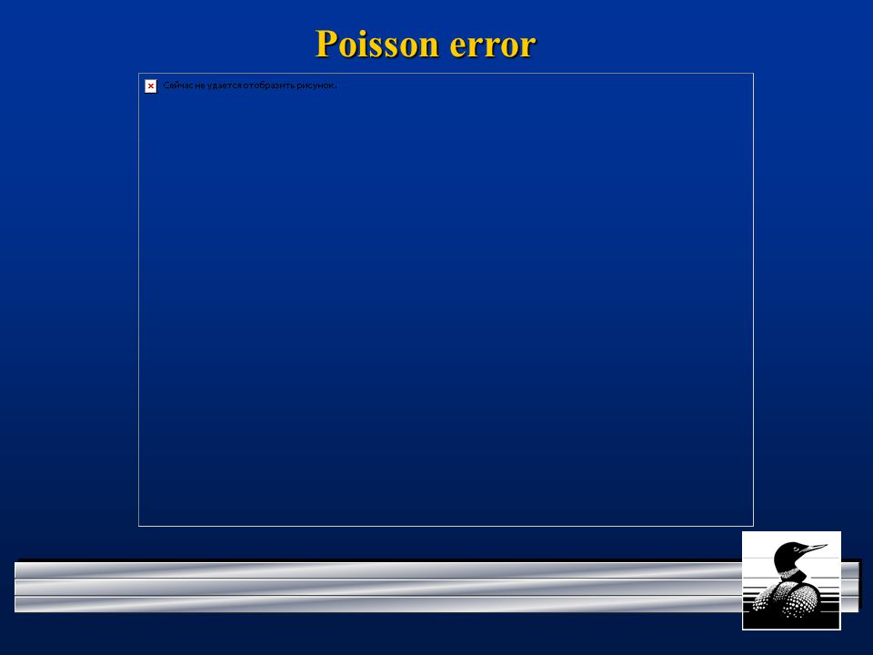 Poisson error