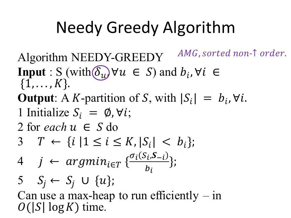 Needy Greedy Algorithm