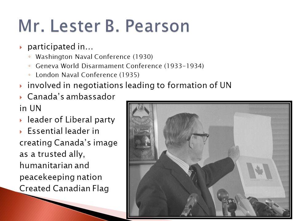  participated in... ◦ Washington Naval Conference (1930) ◦ Geneva World Disarmament Conference (1933-1934) ◦ London Naval Conference (1935)  involve