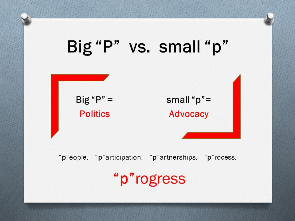 The Key to Progress Commissioners are participative and supportive based on their commitment to: Small p politics – Advocacy rather than time and energy being focused on Big P Politics.