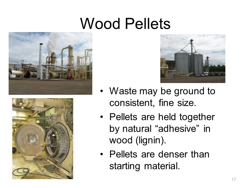 Wood Pellets Waste may be ground to consistent, fine size.