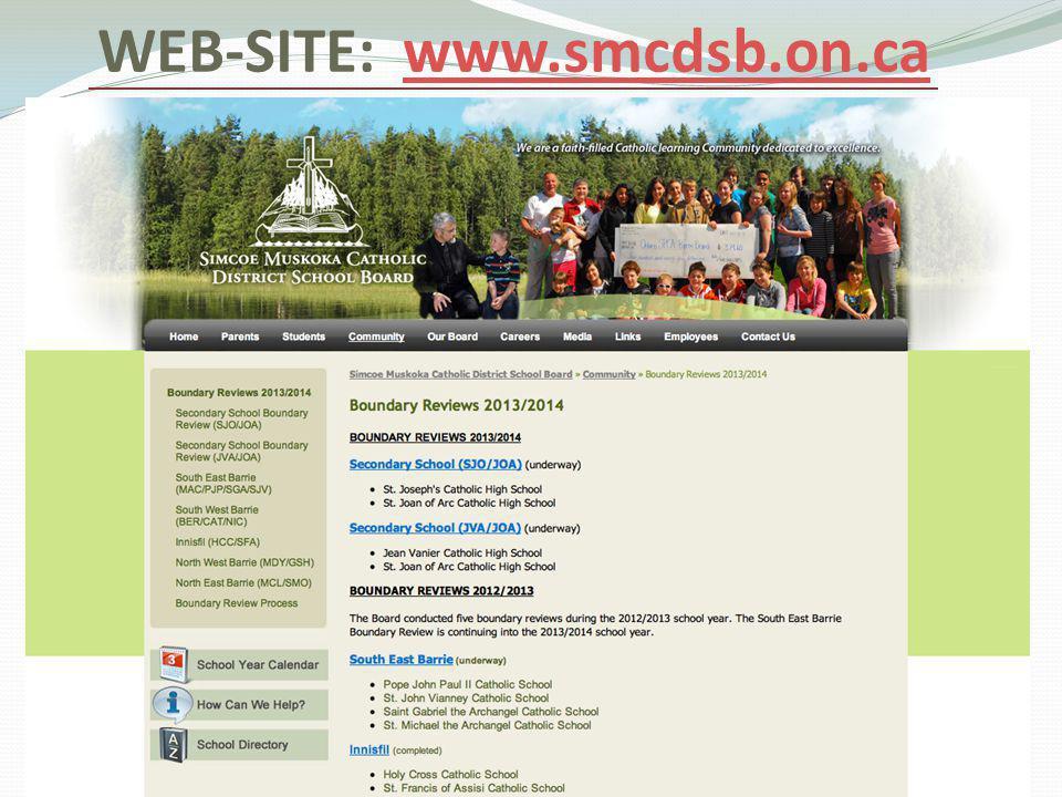 WEB-SITE: www.smcdsb.on.cawww.smcdsb.on.ca