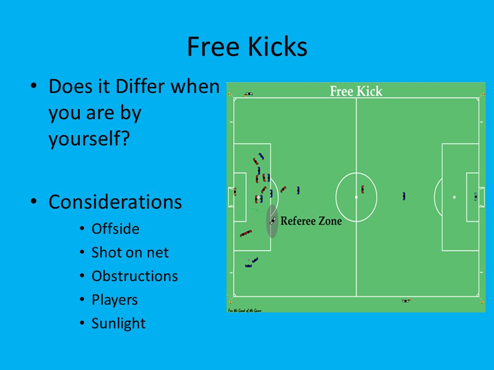 Free Kicks Does it Differ when you are by yourself.