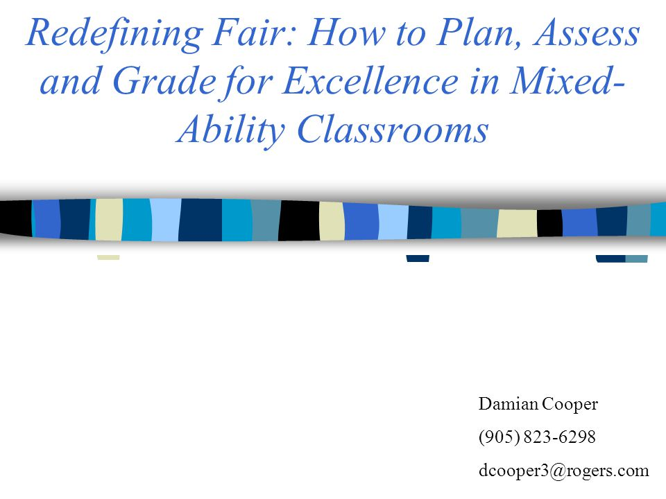 Can a report card communicate both achievement and progress? The Grading Dilemma …