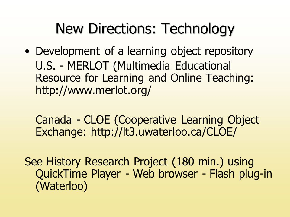 Development of a learning object repository U.S.