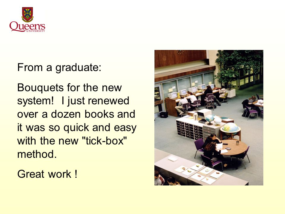 From an undergraduate: Nice and accessible! Easier to use than the old QCAT!