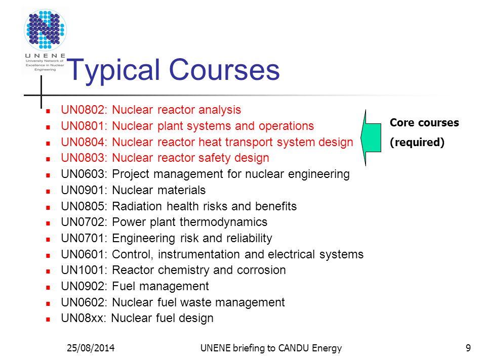 25/08/2014UNENE briefing to CANDU Energy10 Cumulative Enrollment