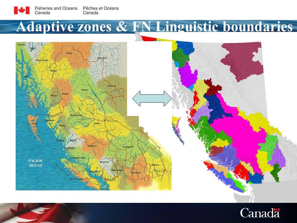 Adaptive zones & FN Linguistic boundaries
