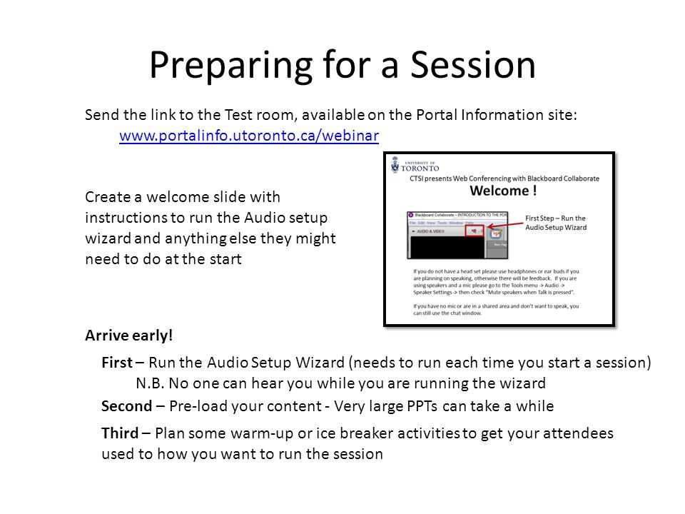 Running a Session Recording Using the Whiteboard Conducting a Web tour Using Application Sharing Transferring Files