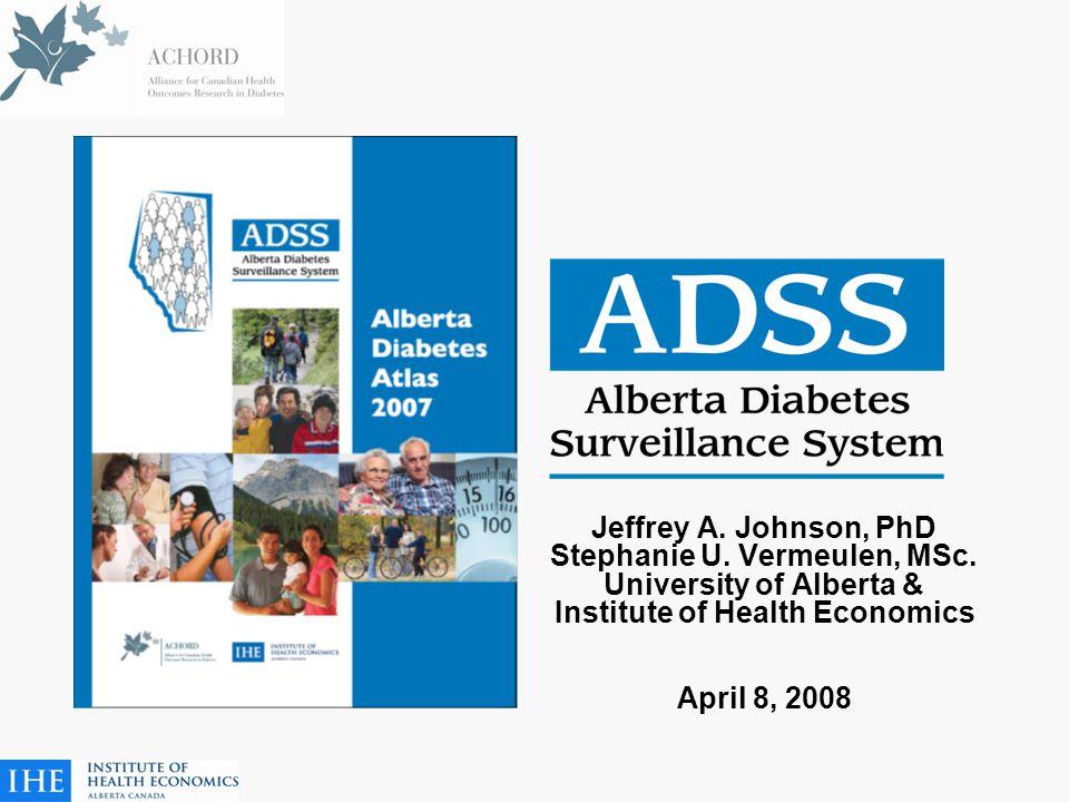 Jeffrey A. Johnson, PhD Stephanie U. Vermeulen, MSc.