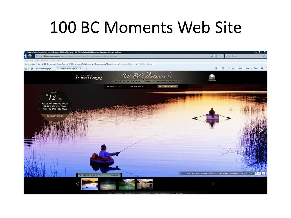 100 BC Moments Web Site