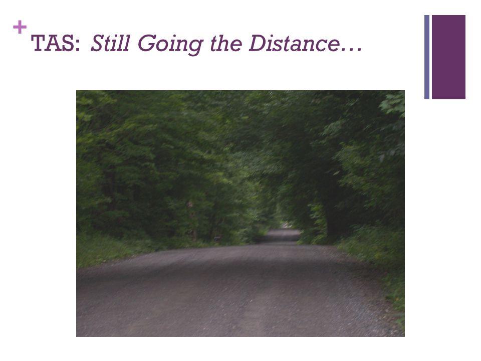 + TAS: Still Going the Distance…
