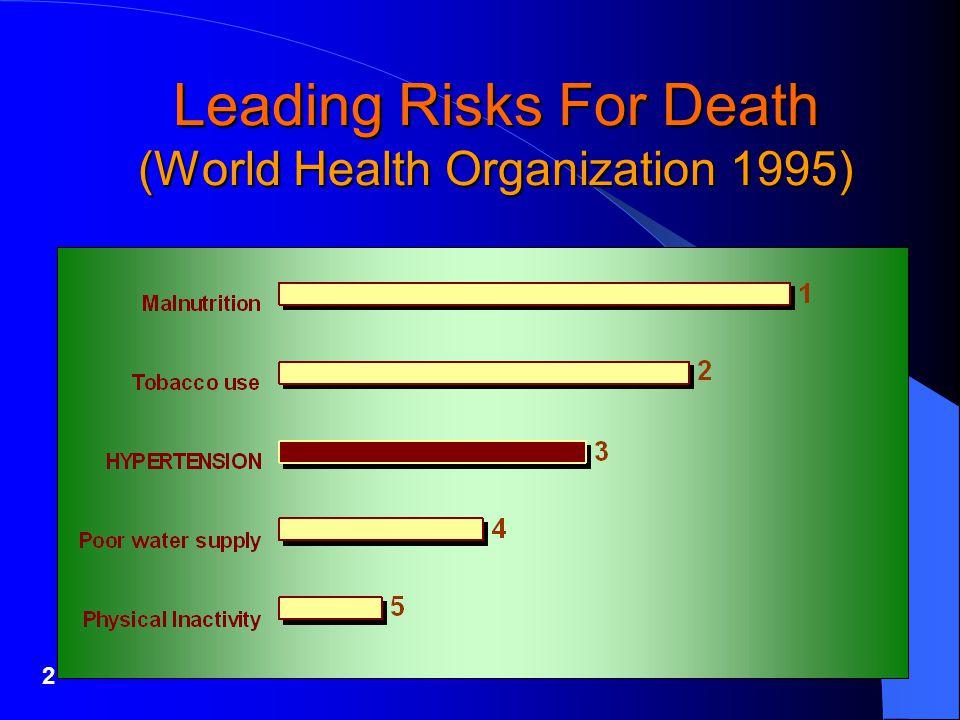 2 Leading Risks For Death (World Health Organization 1995)