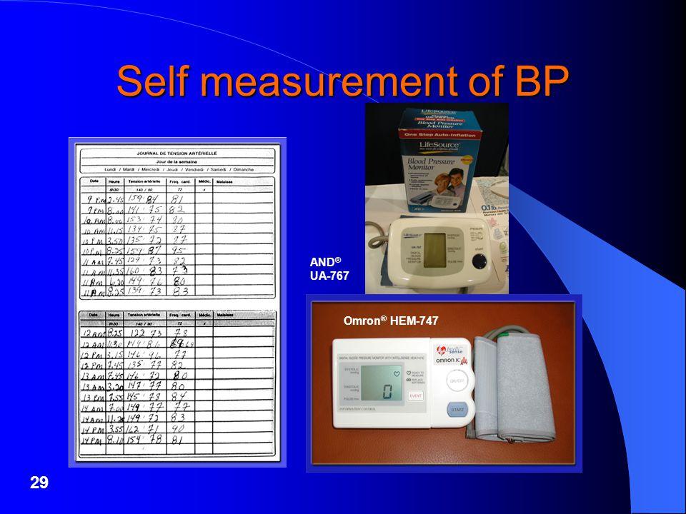 29 Self measurement of BP AND ® UA-767 Omron ® HEM-747