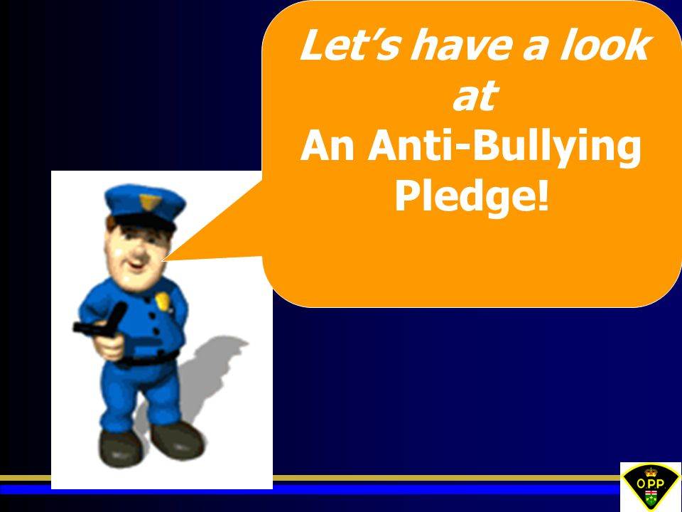 Let's have a look at An Anti-Bullying Pledge!