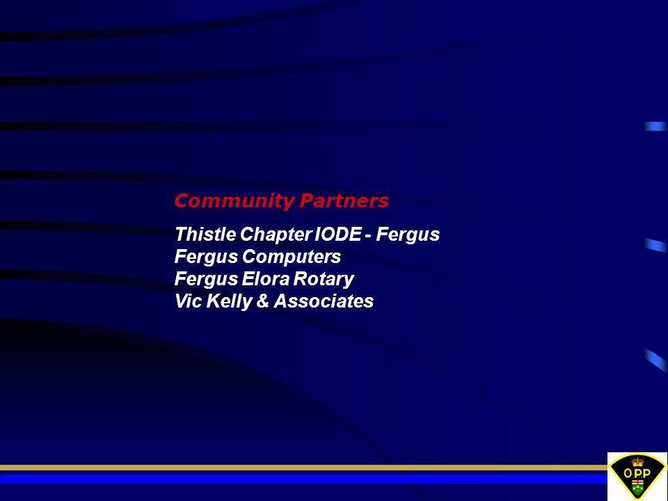 Community Partners Thistle Chapter IODE - Fergus Fergus Computers Fergus Elora Rotary Vic Kelly & Associates
