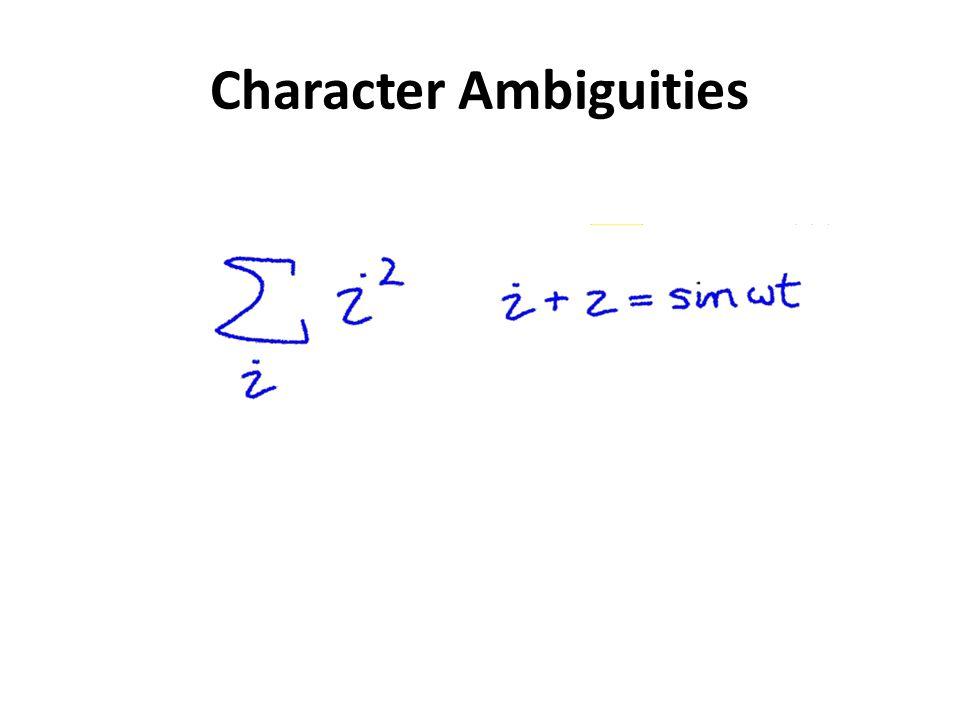 Character Ambiguities