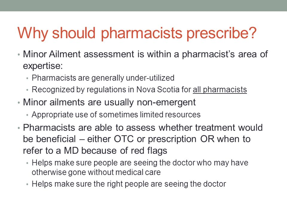 Why should pharmacists prescribe.
