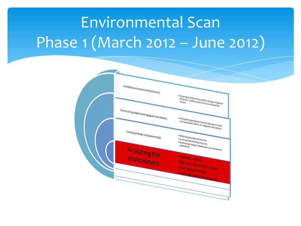 Environmental Scan Phase 1 (March 2012 – June 2012)
