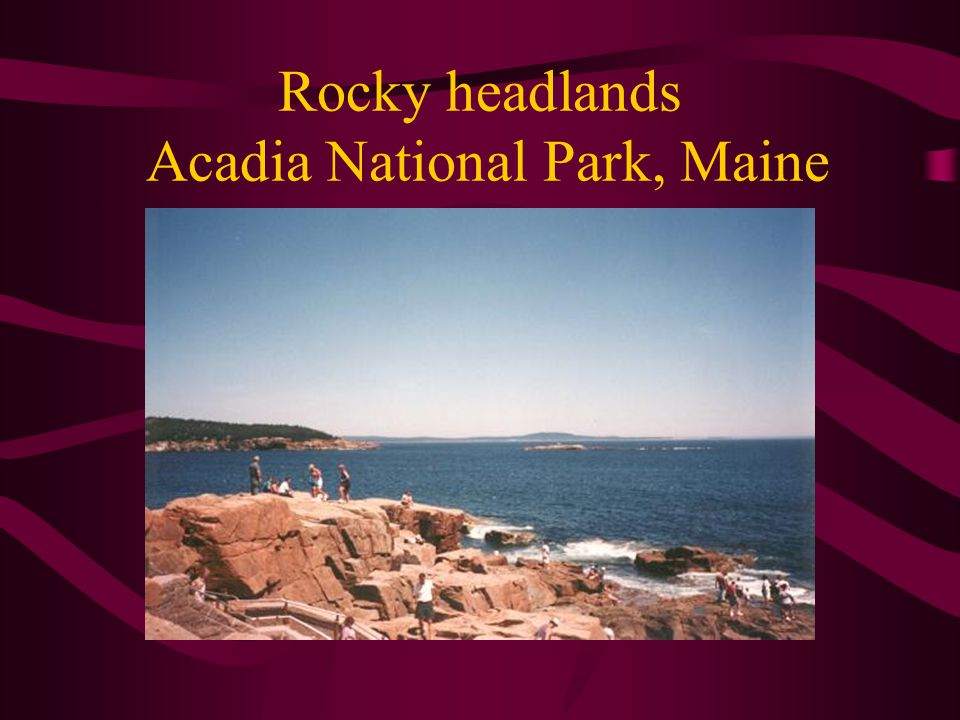 Rocky headlands Acadia National Park, Maine