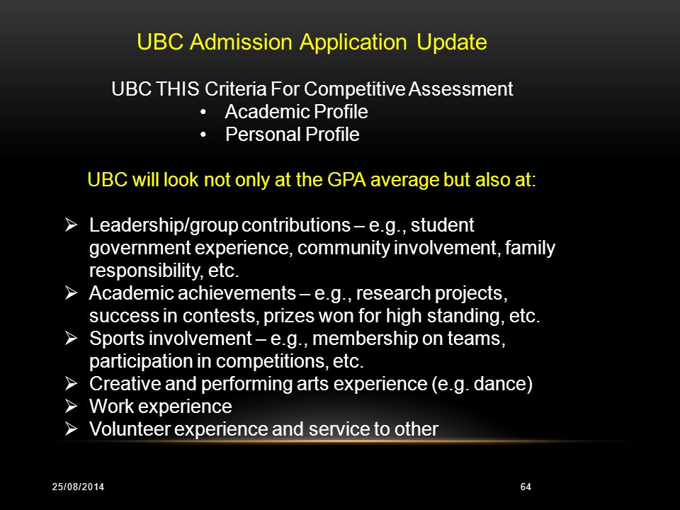 UBC (UNIVERSITY OF BRITISH COLUMBIA) ADMISSABLE/APPROVED COURSES Biology 12 Chemistry 12 Physics 12 Pre-Calculus 12 Economics 12 English Literature 12