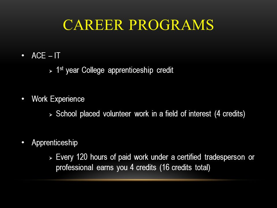 25/08/2014 73 DELTA SCHOOL DISTRICT CAREER PROGRAMS