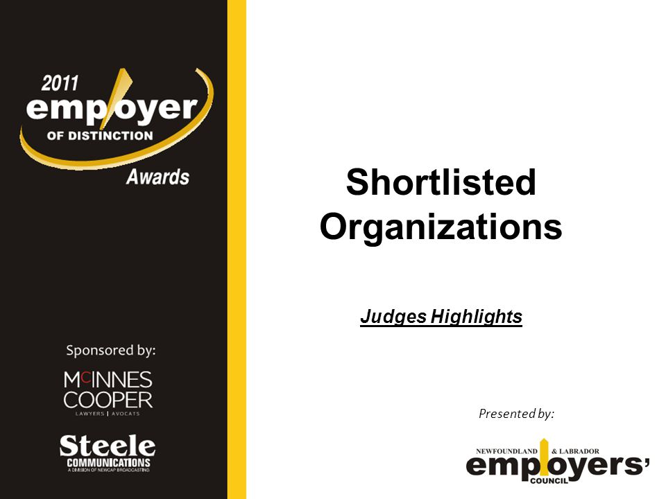 Large Employer Finalists Presented by: