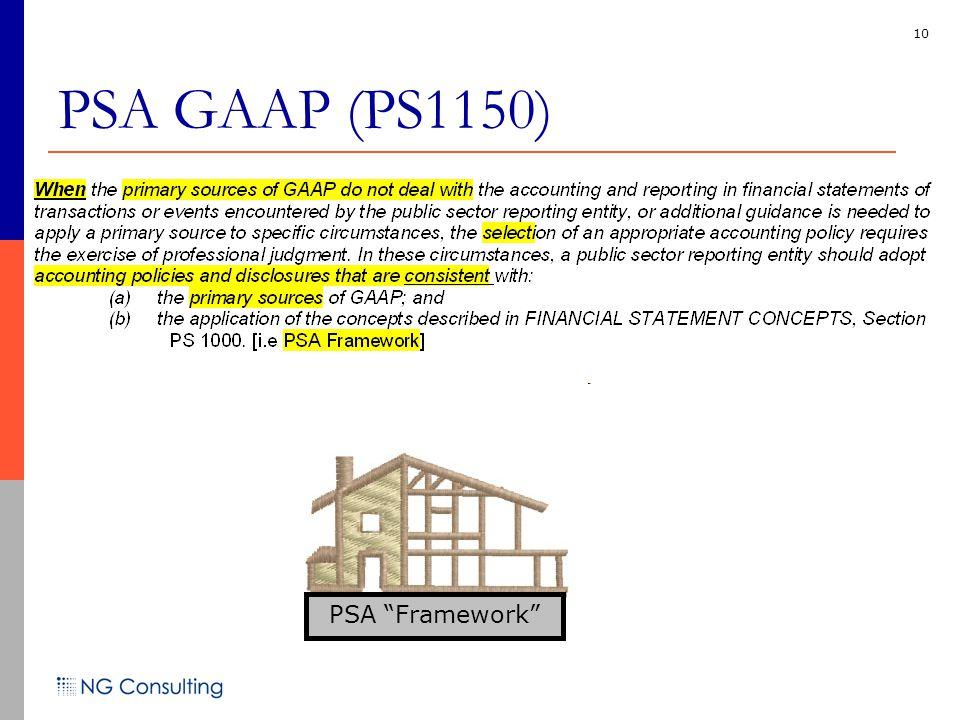 10 PSA GAAP (PS1150) PSA Framework